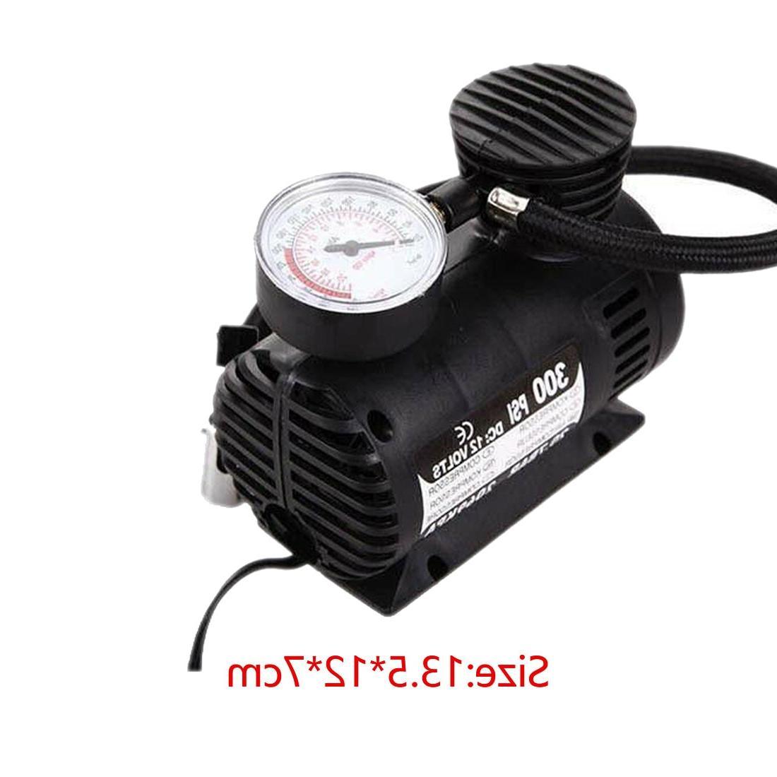 Vehicle <font><b>Mini</b></font> <font><b>Air</b></font> 300 PSI Tire Inflator Pump 12V Universal