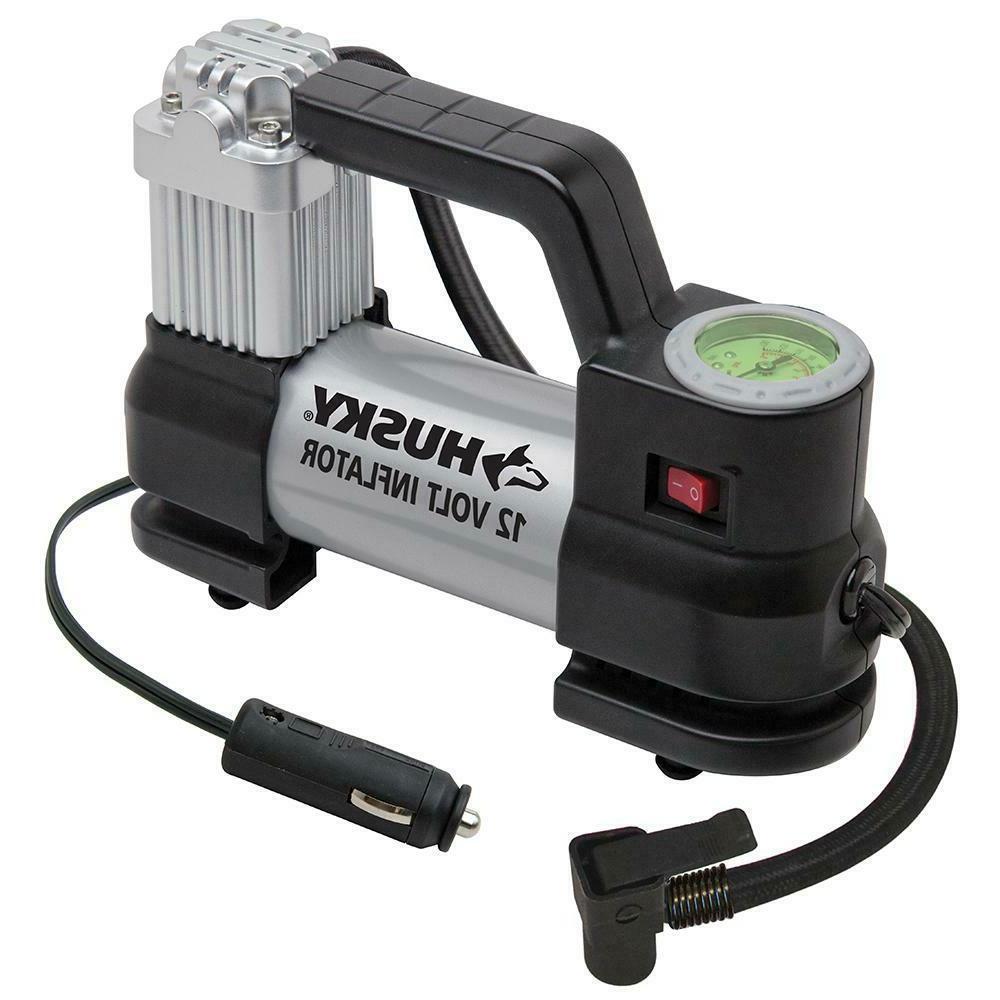 Car Air Compressor 12 or 120 Volt Outlet Husky Portable Auto