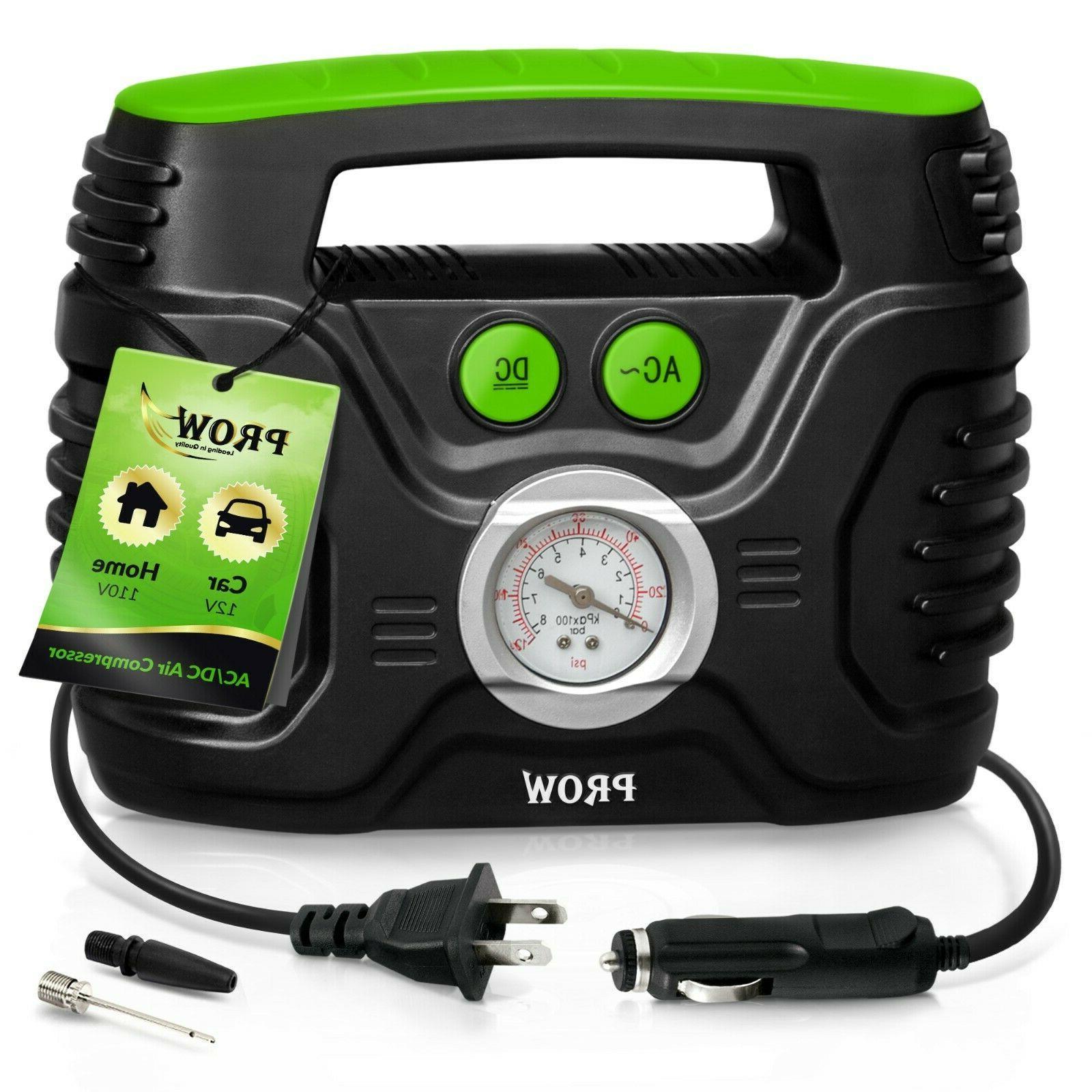 car air compressor tire inflator portable gauge