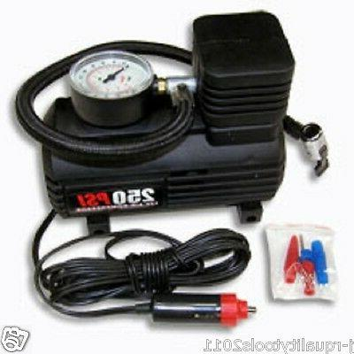 PORTABLE 12V BIKE CAR AUTO 12 VOLT TIRE INFLATOR AIR FILLER