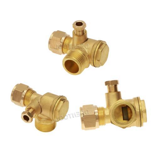 Central Compressor Brass 3-Port