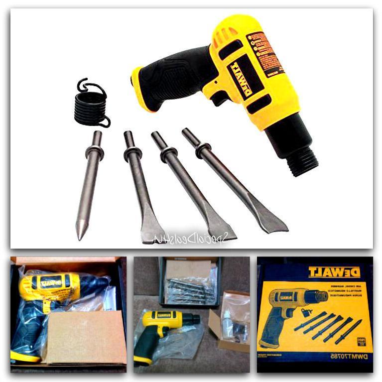 Chisel Air Hammer Dewalt Tool Kit Set Pneumatic Gun Heavy Du