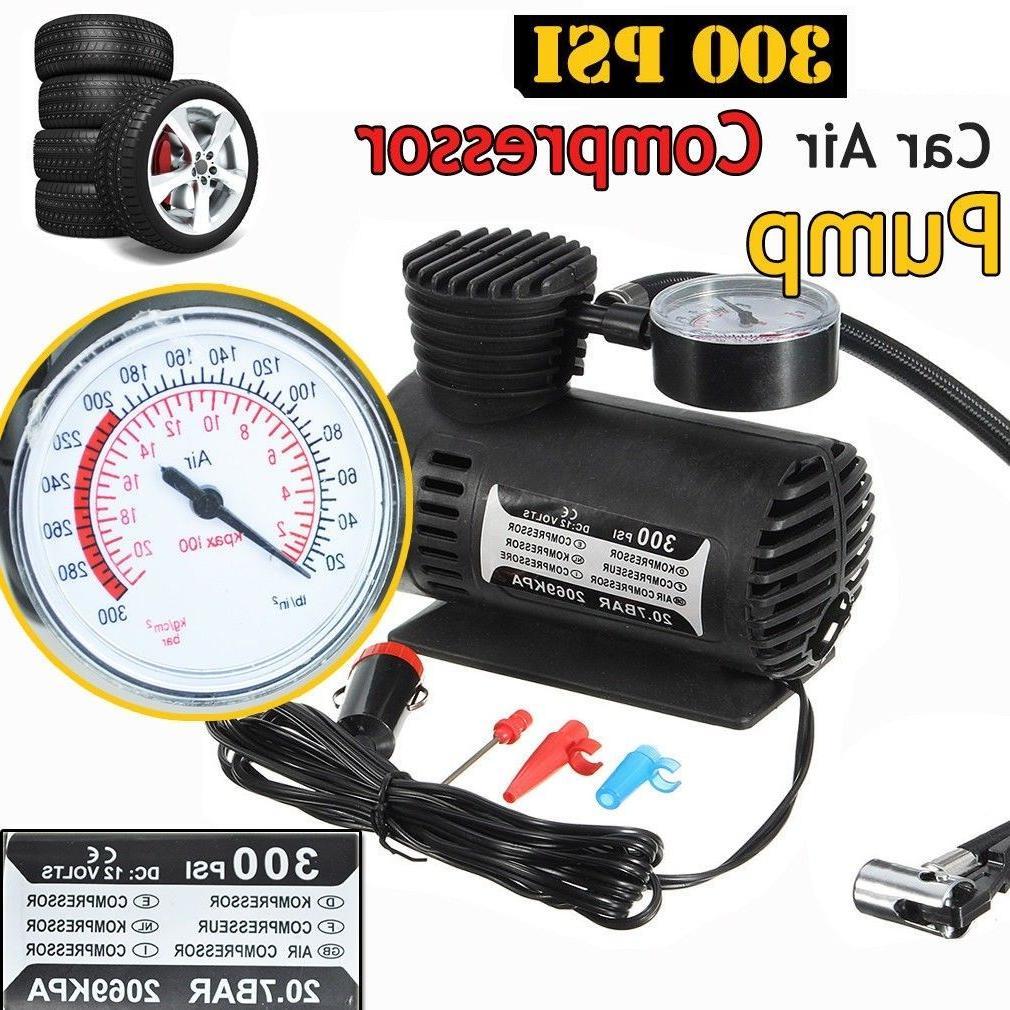 TiOODRE 300PSI Car Tire Inflator <font><b>Air</b></font> <font><b>Compressor</b></font> Pump with Pressure Car Dinghy