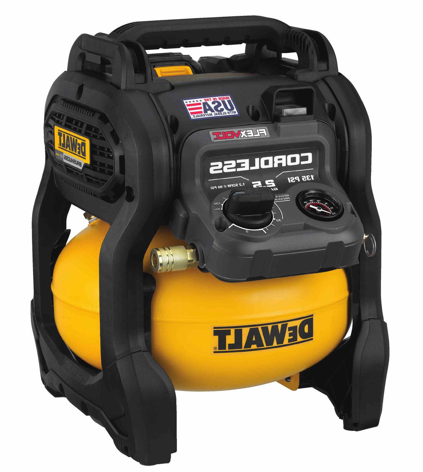 DEWALT DCC2560T1 FlexVolt 60V Max 2.5 Gallon Cordless Air Co
