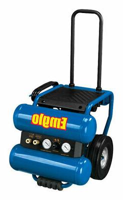 Emglo EM810-4M 1.1 HP 4 Gallon Oil-Lube Dolly-Style Twinstac