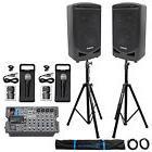 "Samson Expedition XP800 800w Portable 8"" PA DJ Speakers+Mixe"