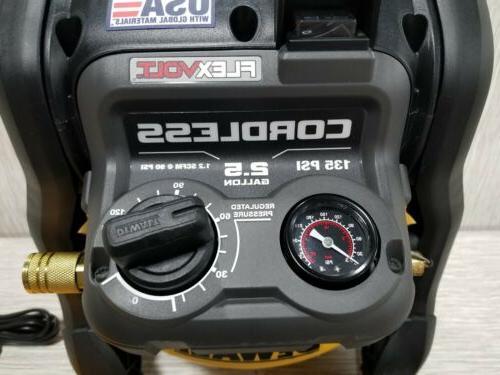 DEWALT Flexvolt 60V MAX 2.5 Compressor 9.5L