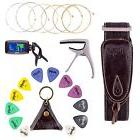 Mugig Guitar Accessories Kit for Acoustic Guitar Tuner Capo