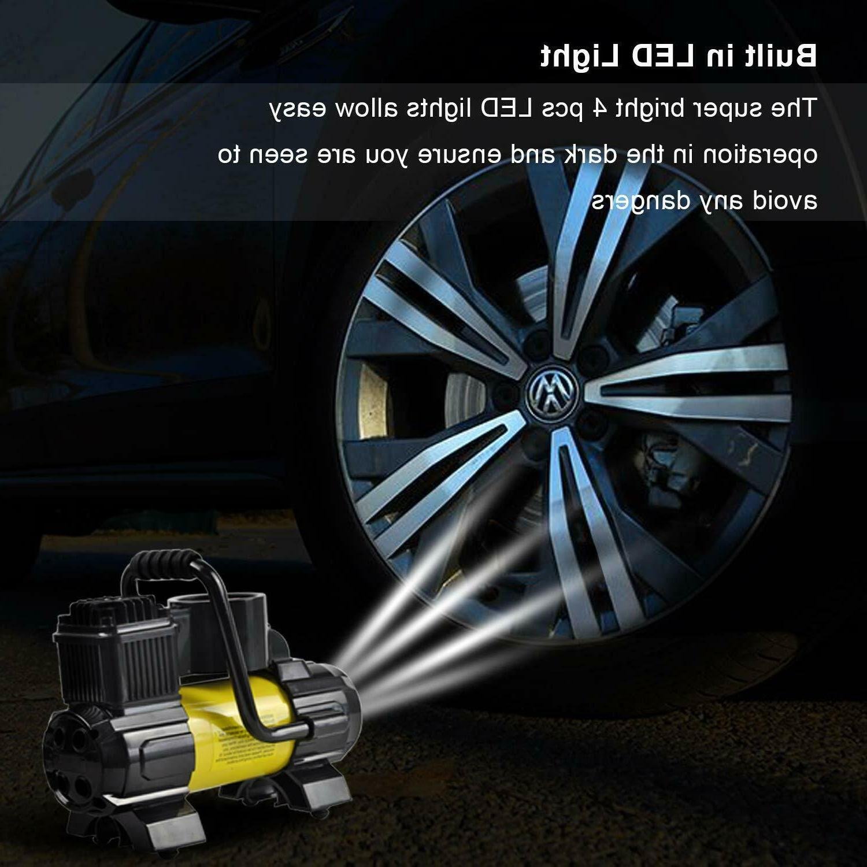 5Heavy Portable Air Compressor Electric Pump Auto 12V