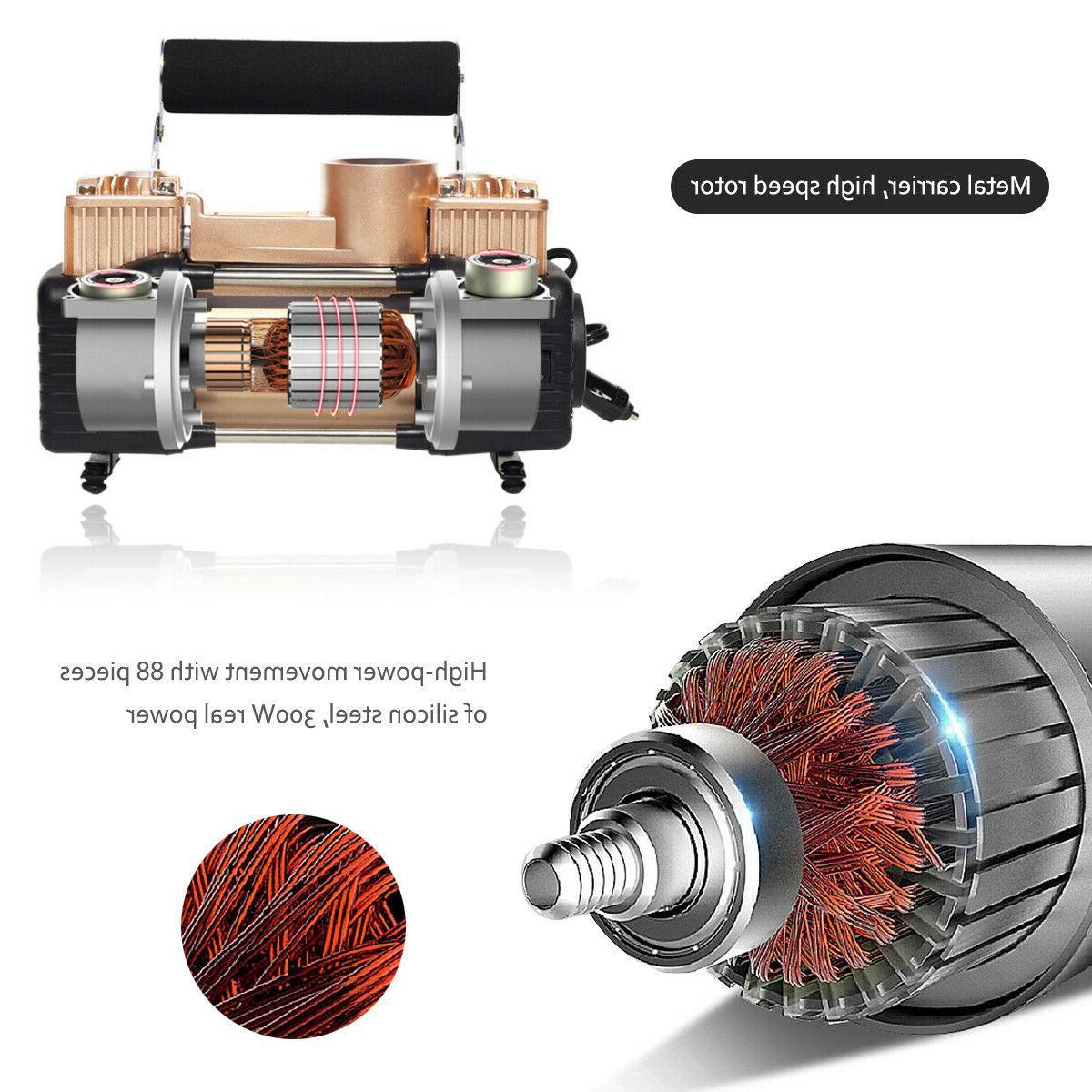 Heavy 12V Portable 150PSI Tire Inflator Compressor
