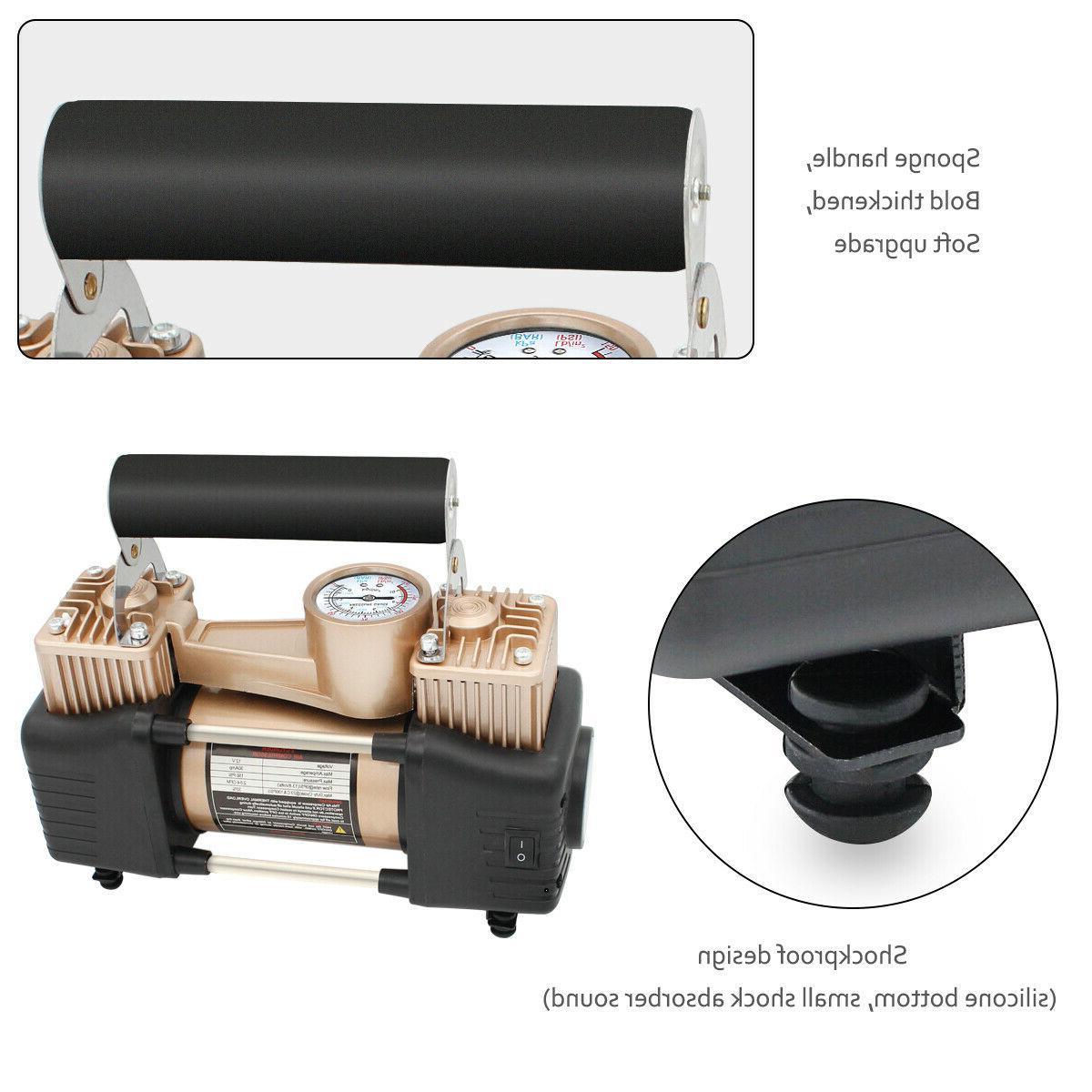 HEAVY Compressor Tire Pump Inflator Auto Double