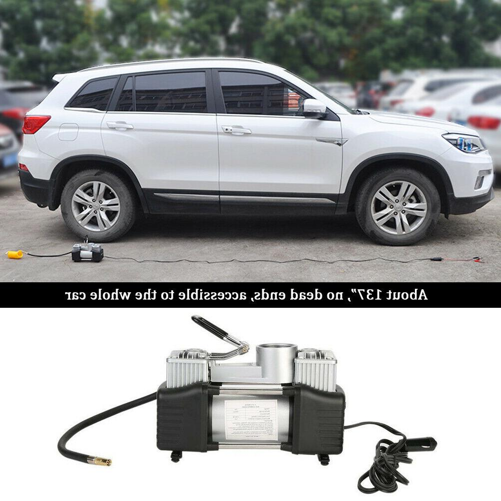 12V Heavy Air Compressor Car Tyre Auto Tire Inflator Pump