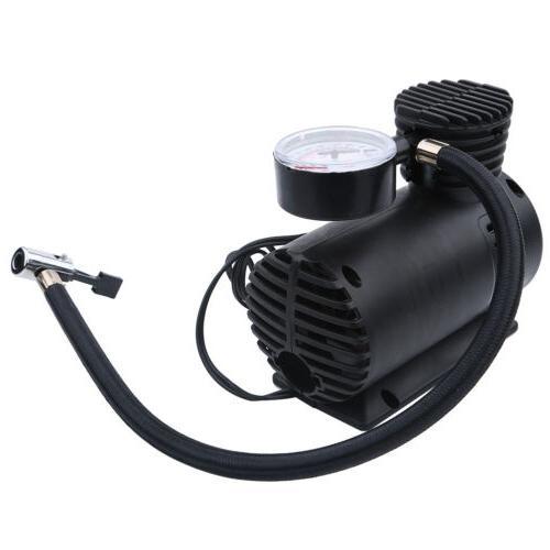 Portable Volt Air Compressor With Gauge Tire Inflator