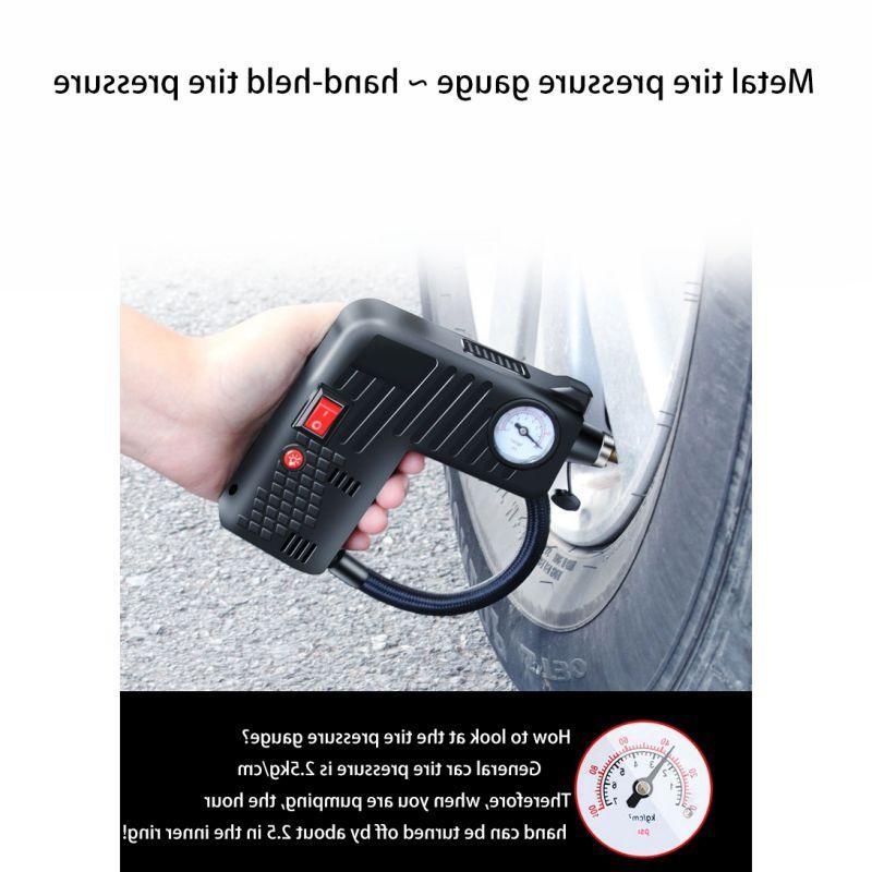 Hot Portable DC Tire Inflator Electric <font><b>Compressor</b></font> <font><b>Air</b></font> Pump Emergency Tool for Car Bicycle