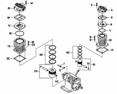 ingersoll rand model 2340 piston bareassembly hp