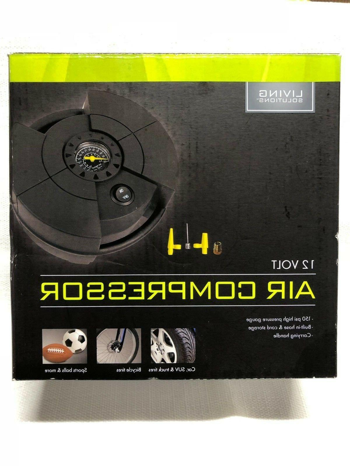 living solutions air compressor 12 volt 413434