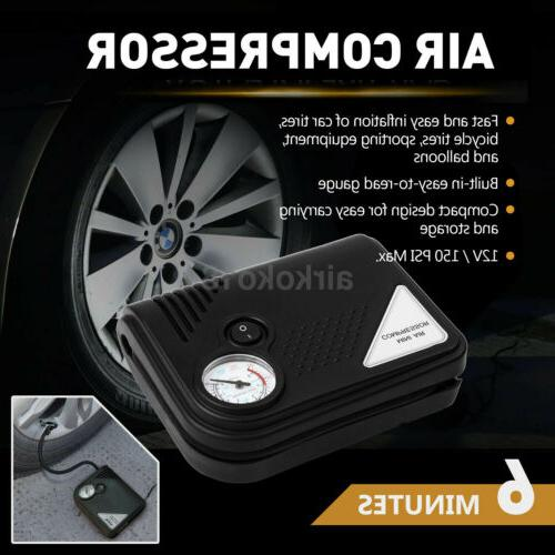Electric Tire Inflator Car Auto Air Pump Compressor Portable
