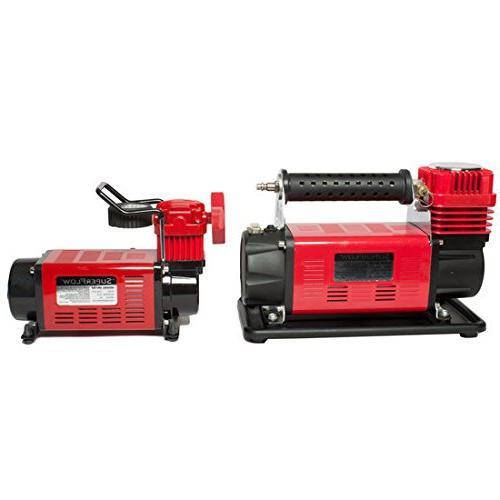 SuperFlow MV-9012 Volt Air Compressor, Portable Air Pump 12v Air Compressor, PSI, Road Vehicles, RVs, Bikes