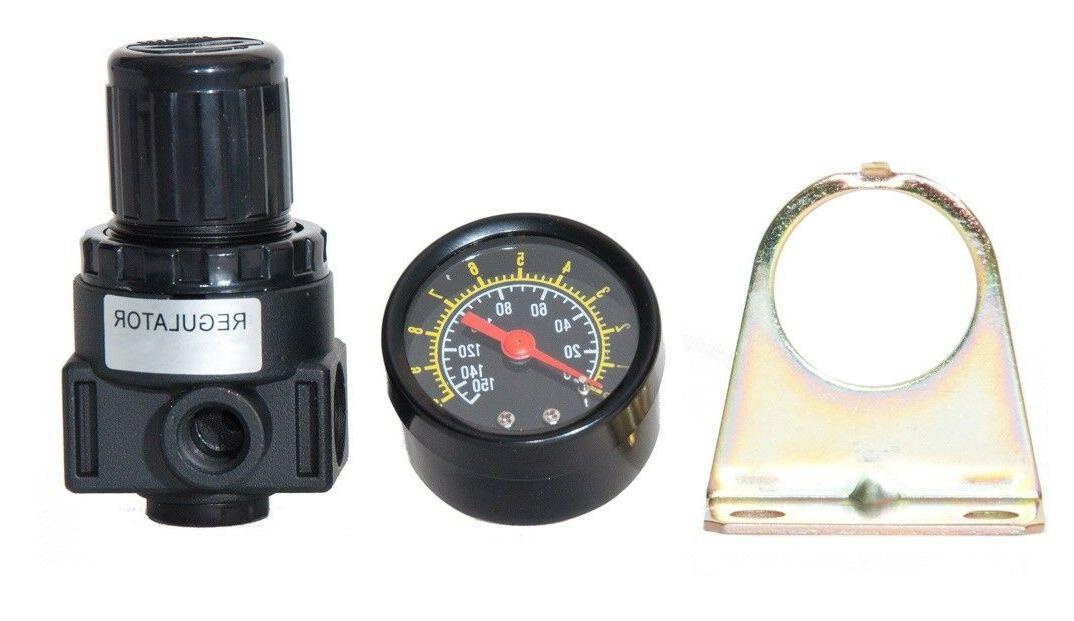 NEW Air Compressor Compressed Air Pressure Regulator W/ gaug