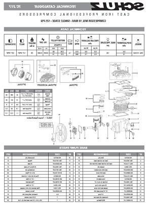 NEW SCHULZ CAST COMPRESSOR PUMP 3 OR 5 HP + FREE FILTER