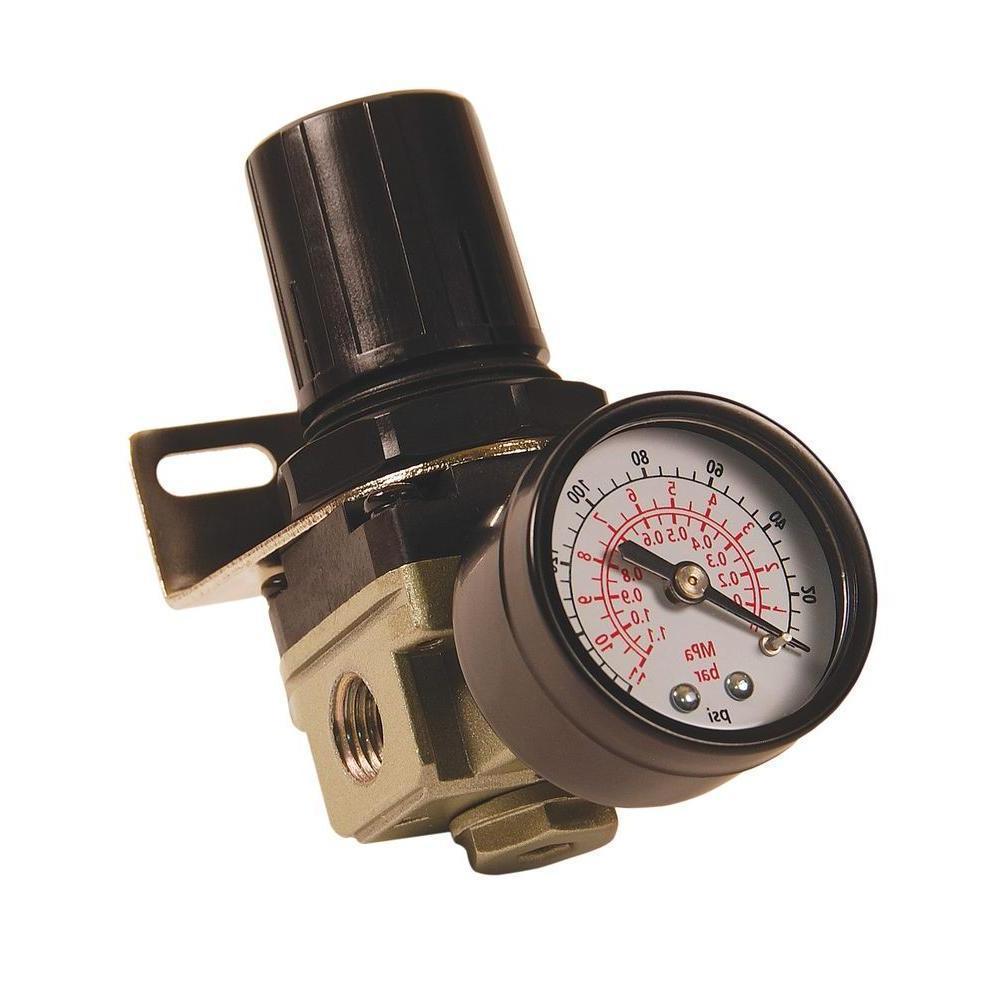 Primefit 1/4 inch NPT Mini Air Compressor Regulator Gauge 14
