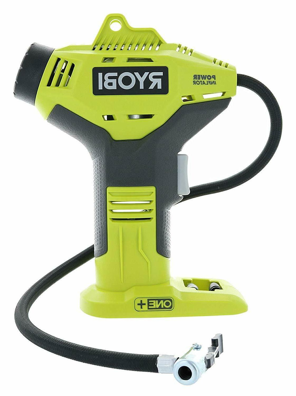 Ryobi P737 18-volt One Portable Power Inflator for Tires Bat