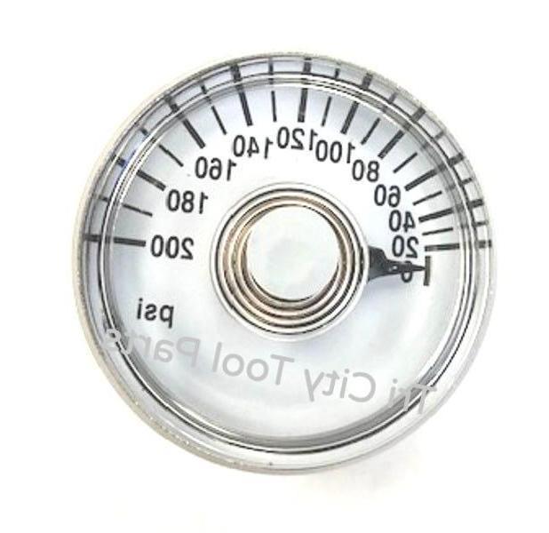 """PG18 Emglo Air Compressor Gauge 1-1/2""""  200psi  1/8"""" NPT"""