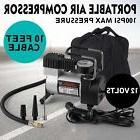 Portable 12V 1 Car Tire Inflator Pump Air Compressor RV Bus