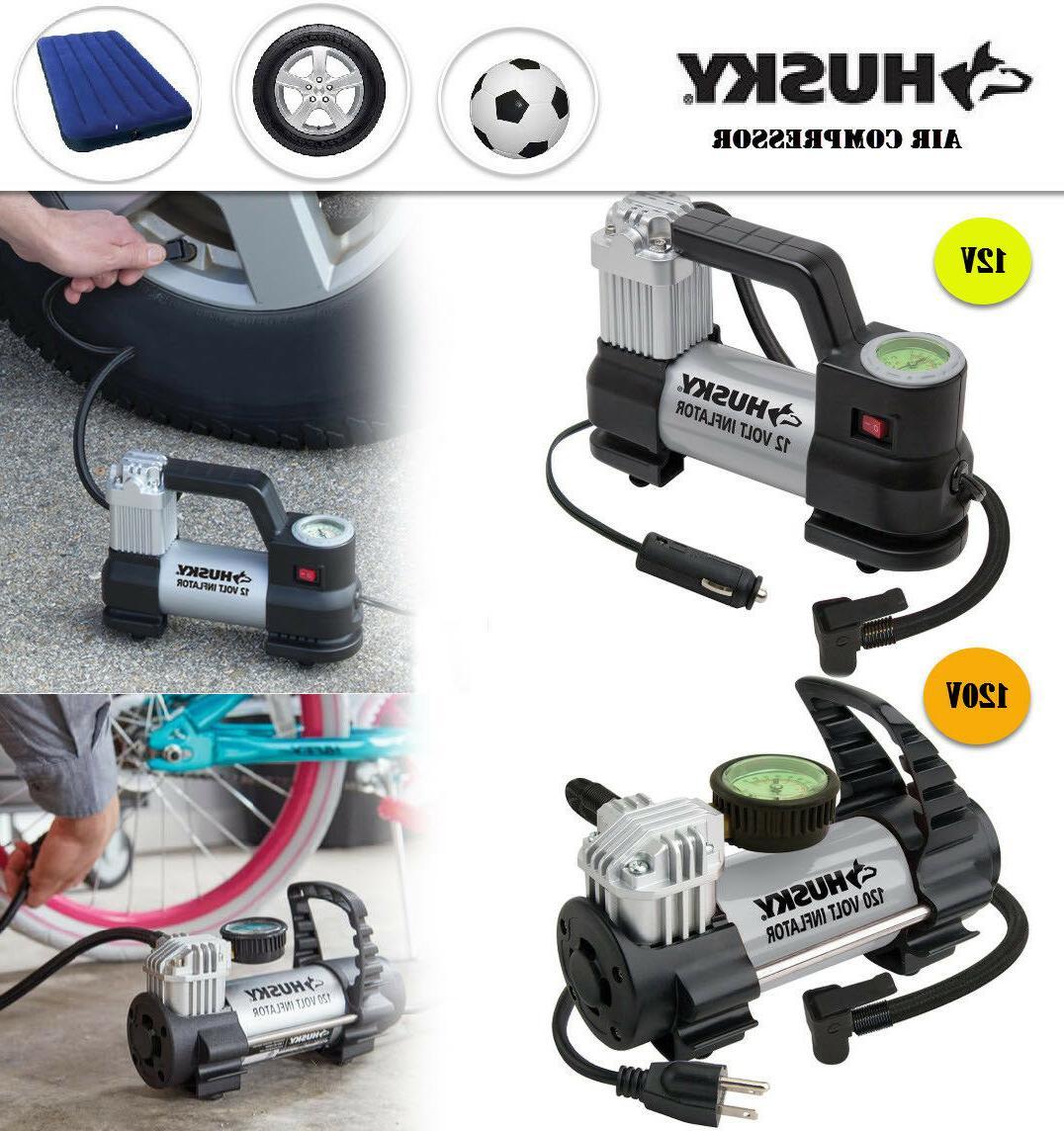 portable 12v 120v inflator glow in