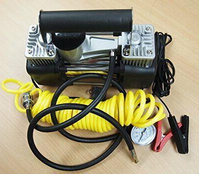 portable 12v dual cylinder air compressor pump