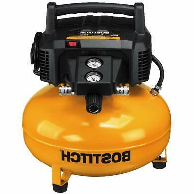 BOSTITCH PORTABLE 6 GALLON 150 PSI OIL-FREE HIGH-FLOW COMPRE