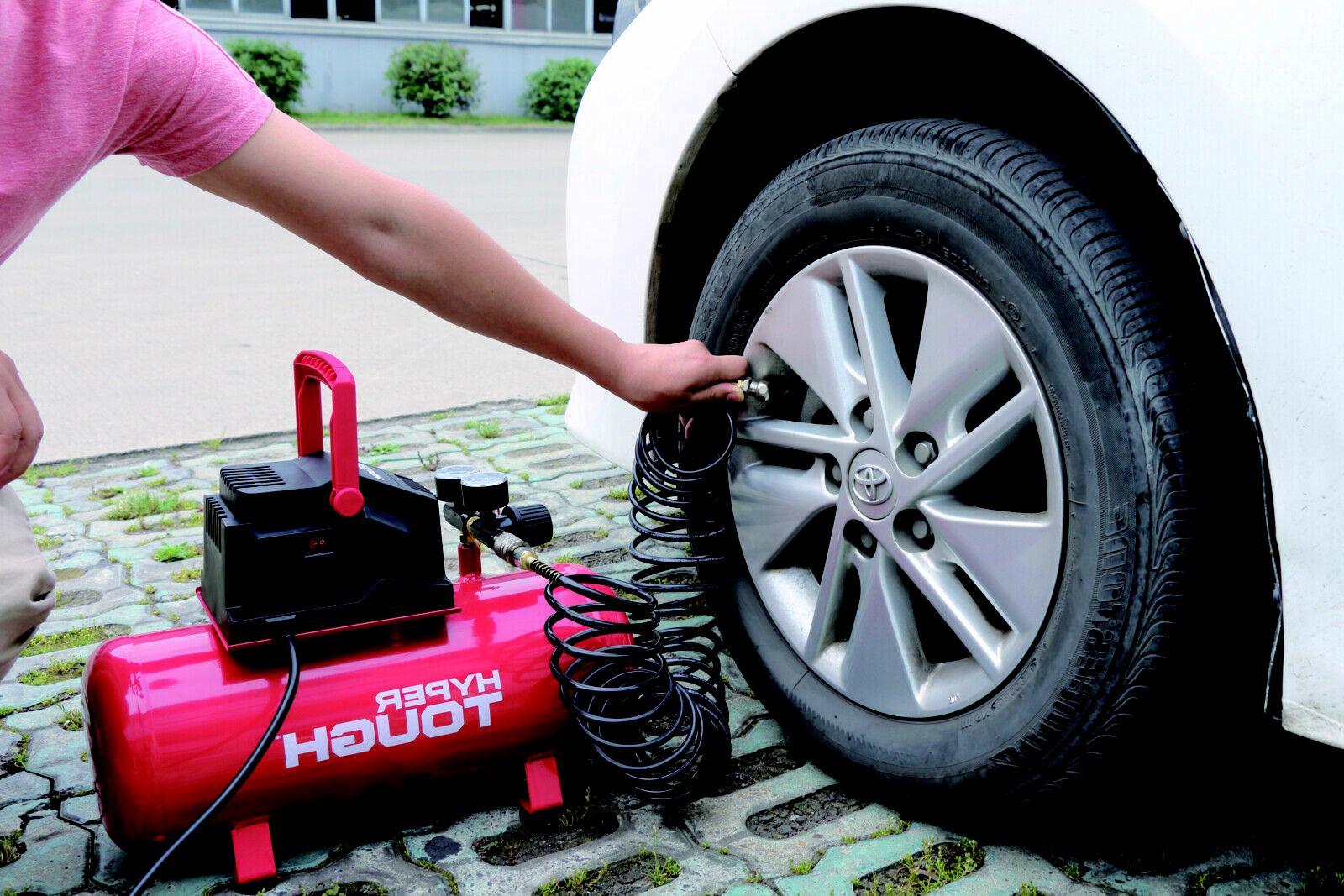 Portable Air Hotdog Home Garage Oil Free Pump Car NEW
