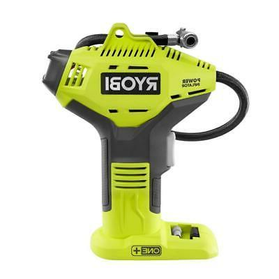 RYOBI High Pressure Inflator 18-Volt Lithium-Ion Digital Gau