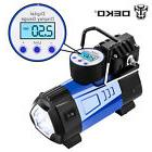 DEKO Portable Air Compressor Pump 12V 140 PSI  Digital Displ
