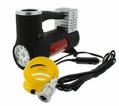 ABN Portable Air Compressor, Lighter Plug Adapter & Workligh
