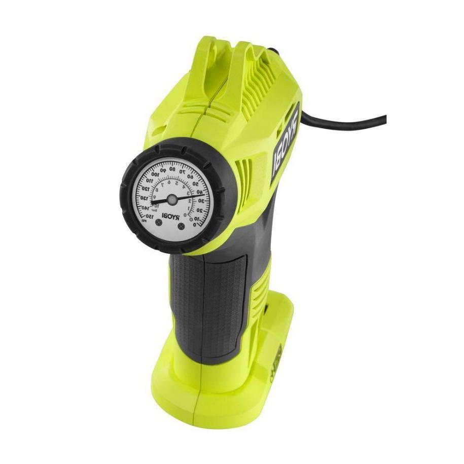 Portable Pump Inflator Gauge Tool Ryobi Cordless