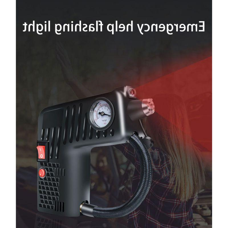 Portable 12V Inflator Electric <font><b>Air</b></font> Pump Car Emergency for Car Motorcycles