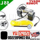 12V 150PSI Portable Double Cylinder Air Pump Compressor Car