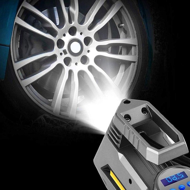 Portable Inflator Car Tire Pump With Digital Flashligh
