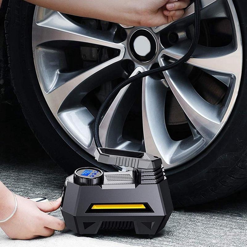 Portable Inflator - Pump Gauge , Flashligh