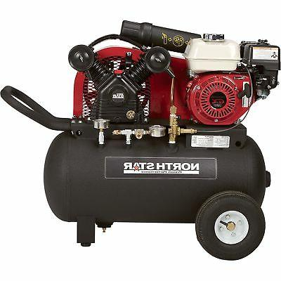 portable gas powered air compressor 20 gal