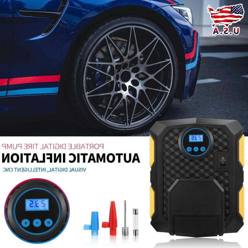 portable tire inflator car air pump compressor