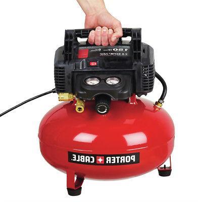 Porter-Cable 0.8 6 Gallon Oil-Free Pancake Compressor New