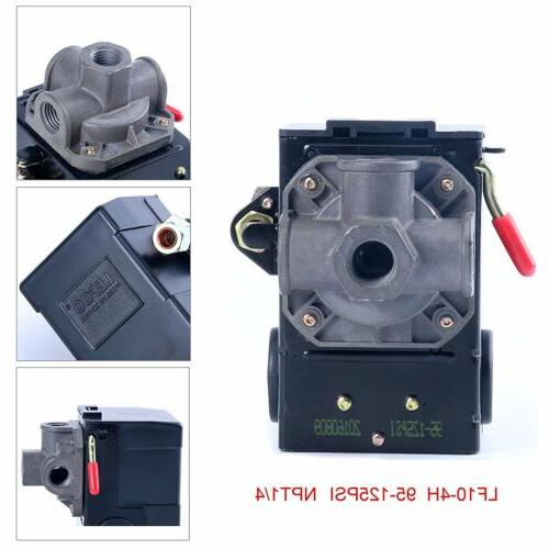 LEFOO Pressure Switch for Air Compressor 95-125 PSI Four POR