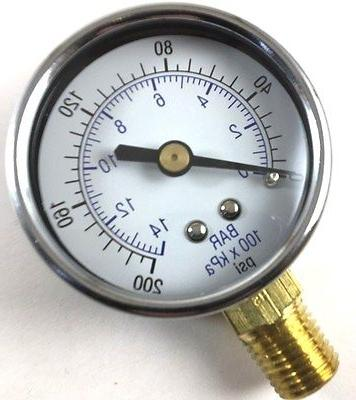 air compressor pressure gauge 0 200 psi