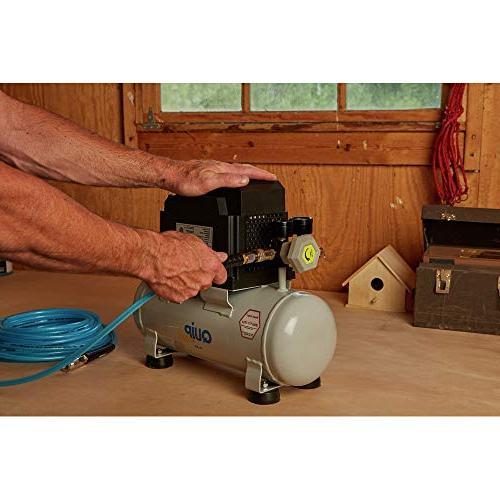Quipall Free Compressor, 1/3 HP, gallon,Steel
