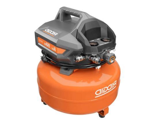 ridgid electric pancake air compressor 6 gal
