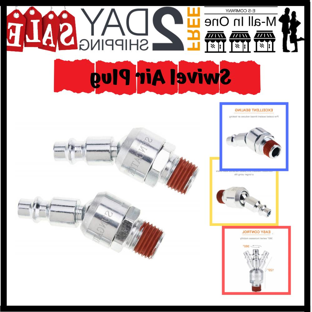 EsMall Swivel Coupler Air Plug NPT Male Thread Air Hose Fitt