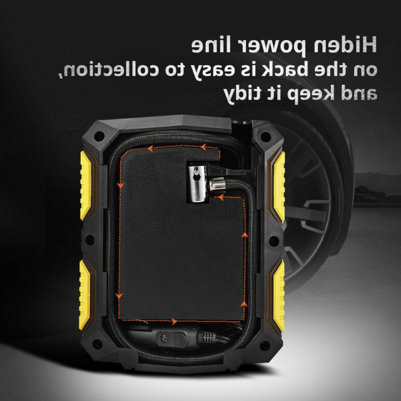 Tire Air Compressor Pump Portable Auto Volt 100