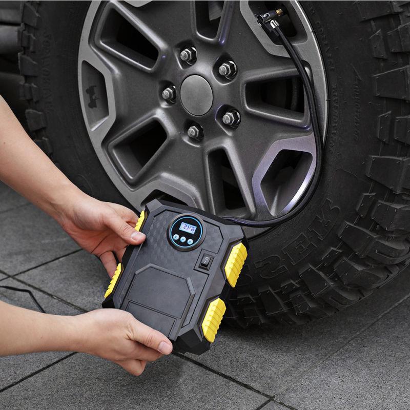 Tire Inflator Car Air Compressor Pump Auto DC Volt 100 PSI